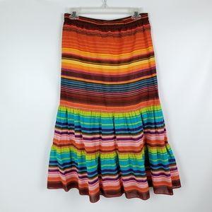 Tommy Hilfigure Cotton Vibrant Rainbow Skirt EUC!